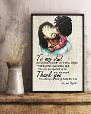 To My Dad Afro Dad And Daughter 11x17 Poster lifestyle-poster-3