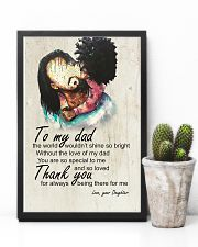 To My Dad Afro Dad And Daughter 11x17 Poster lifestyle-poster-8