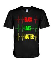 Black Lives Matter 007 V-Neck T-Shirt thumbnail