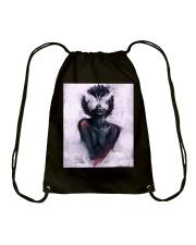 Black Girl 156 Drawstring Bag thumbnail