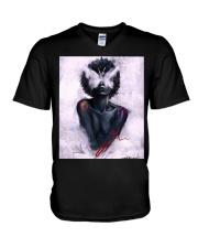 Black Girl 156 V-Neck T-Shirt thumbnail