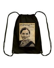 Rosa Parks - Black Lives Matter Drawstring Bag thumbnail