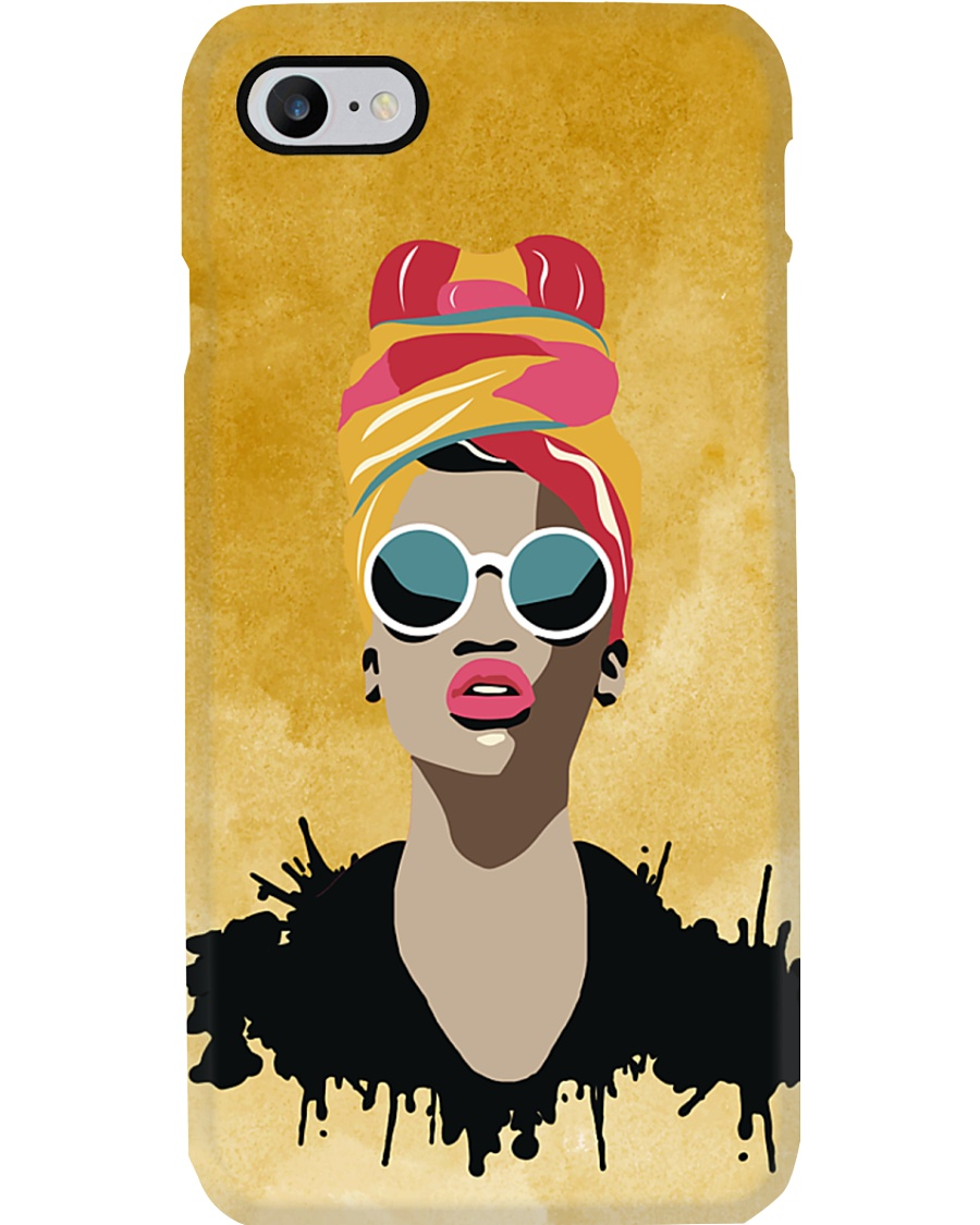 Melanin Woman And Beautiful Headwrap  Phone Case