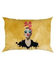 Melanin Woman And Beautiful Headwrap  Rectangular Pillowcase thumbnail