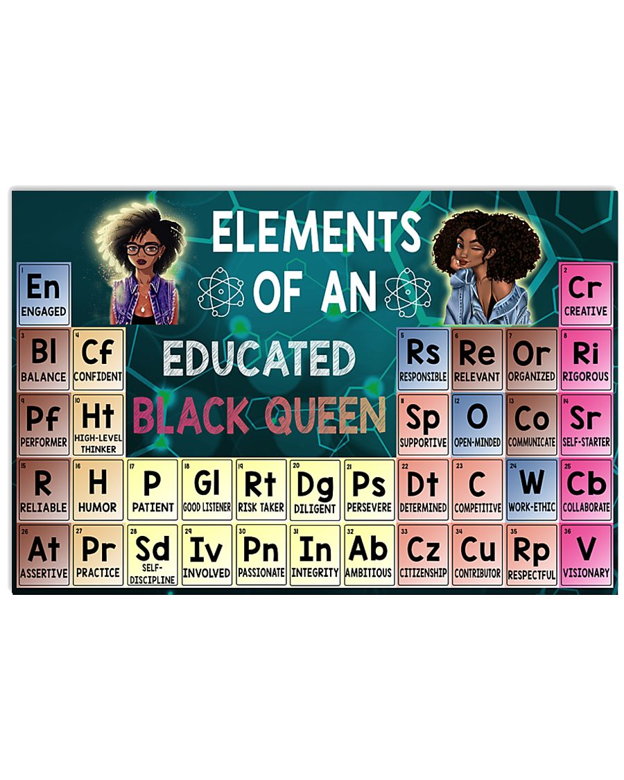 Black Queen Educated 24x16 Poster