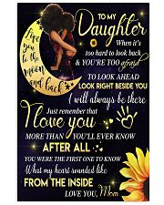 To My Daughter - Black Mom And Daughter 11x17 Poster thumbnail