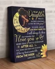 To My Daughter - Black Mom And Daughter 11x14 Gallery Wrapped Canvas Prints aos-canvas-pgw-11x14-lifestyle-front-07