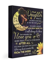 To My Daughter - Black Mom And Daughter 11x14 Gallery Wrapped Canvas Prints front