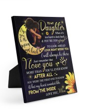 To My Daughter - Black Mom And Daughter 8x10 Easel-Back Gallery Wrapped Canvas thumbnail