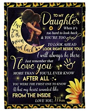 "To My Daughter - Black Mom And Daughter Small Fleece Blanket - 30"" x 40"" thumbnail"