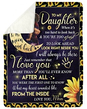 "To My Daughter - Black Mom And Daughter Large Sherpa Fleece Blanket - 60"" x 80"" thumbnail"