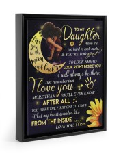 To My Daughter - Black Mom And Daughter 11x14 Black Floating Framed Canvas Prints thumbnail