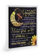 To My Daughter - Black Mom And Daughter 11x14 White Floating Framed Canvas Prints thumbnail