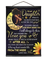 To My Daughter - Black Mom And Daughter 12x16 Black Hanging Canvas thumbnail