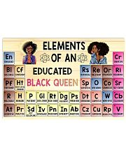 Black Queen Educated 24x16 Poster front