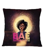 Black And Educated Square Pillowcase thumbnail