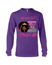 January Girl With Afro Hair Long Sleeve Tee thumbnail