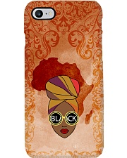 Afro Woman And Beautiful Headwrap Phone Case tile