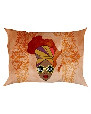Afro Woman And Beautiful Headwrap Rectangular Pillowcase tile