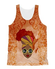 Afro Woman And Beautiful Headwrap All-Over Unisex Tank tile