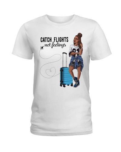 Lovely Afro Girl Catch Flights Not Feelings