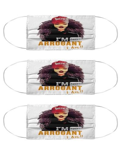 Afro Girl I Am Not Arrogant Mask