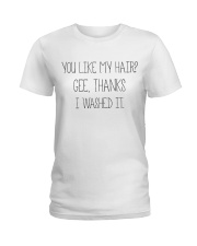 Black Woman And Afro Hair Pride Ladies T-Shirt thumbnail