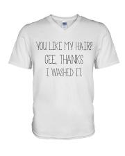 Black Woman And Afro Hair Pride V-Neck T-Shirt thumbnail