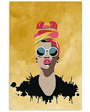 Beautiful Headwrap And Afro Woman 11x17 Poster thumbnail