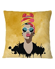 Beautiful Headwrap And Afro Woman Square Pillowcase thumbnail