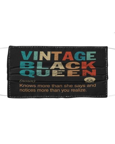 Vintage Black Queen Mask