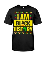 I Am Black History Month Classic T-Shirt front