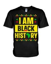 I Am Black History Month V-Neck T-Shirt thumbnail