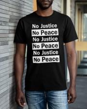 No JUstice No Peace TT2 Classic T-Shirt apparel-classic-tshirt-lifestyle-front-40