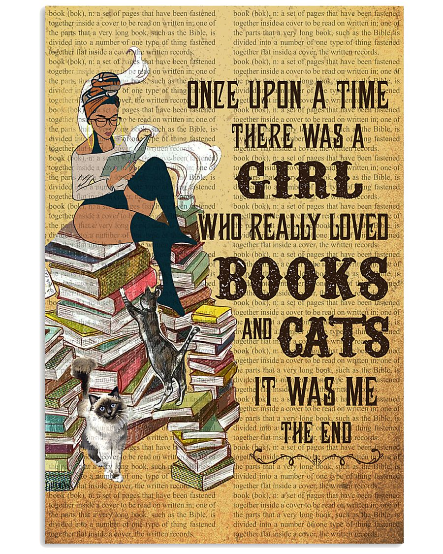 Girl Books and Cats 11x17 Poster