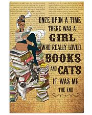 Girl Books and Cats 11x17 Poster front
