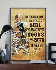 Girl Books and Cats 11x17 Poster lifestyle-poster-2