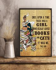Girl Books and Cats 11x17 Poster lifestyle-poster-3