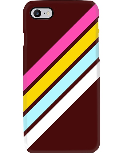 Babam Abstract Classy Colorful 80s Retro Stripes