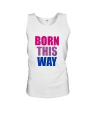 Born This Way Bisexual Pride Flag LGBTQ Unisex Tank thumbnail
