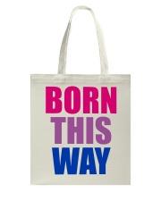 Born This Way Bisexual Pride Flag LGBTQ Tote Bag thumbnail
