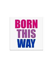Born This Way Bisexual Pride Flag LGBTQ Square Magnet thumbnail