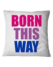 Born This Way Bisexual Pride Flag LGBTQ Square Pillowcase thumbnail