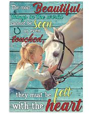 Girl Horse Most Beautiful Thing 24x36 Poster front