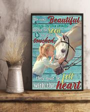 Girl Horse Most Beautiful Thing 24x36 Poster lifestyle-poster-3