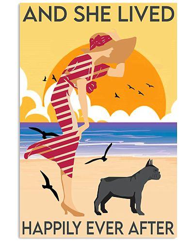 Girl And Dog On The Beach