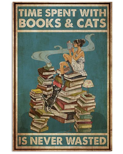 Girl Time Spent With Books And Cats