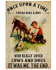 Boy Loved Cows And Dogs 24x36 Poster front