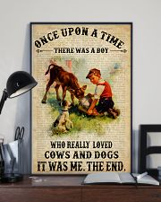 Boy Loved Cows And Dogs 24x36 Poster lifestyle-poster-2
