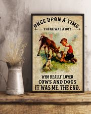 Boy Loved Cows And Dogs 24x36 Poster lifestyle-poster-3